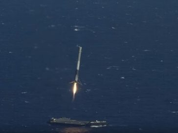 fal feat 364x273 - Watch: SpaceX rocket lands on ocean cargo ship