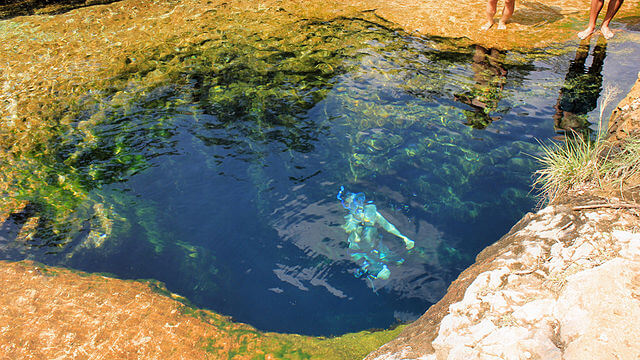 Swimming in Jacobs Well 1 - 11 Very Strange Places on Earth