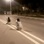 Shocking: Two Girls in the Middle of a Road and Selfie 2