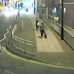 Man stalks a Woman walking alone on the street and tires to kidnap her