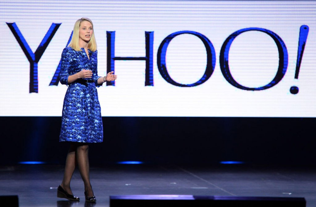 Marissa Mayer delivers a keynote