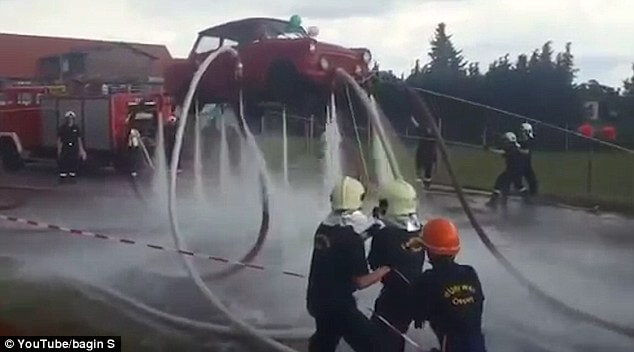 car - Germans made Trabant Car Fly with Water
