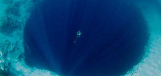 swimming deep