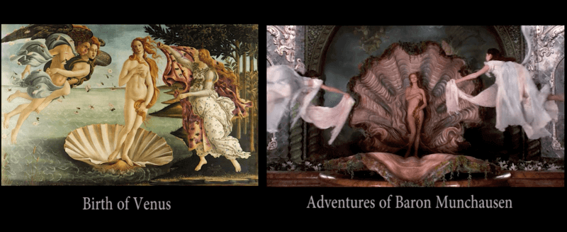 Movie scenes inspired by famous paintings 1 - Movie scenes inspired by famous paintings