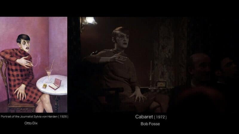Portrait of Sylvia von Harden journalist , Otto Dix (1926) - Cabaret , Bob Fosse (1972)