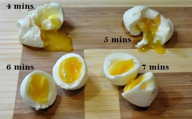 correct time limit for boiling egg - 15 Amazing Kitchen Hacks that you need to know