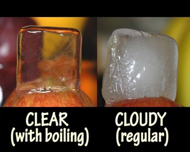 ice cubes clear - 15 Amazing Kitchen Hacks that you need to know