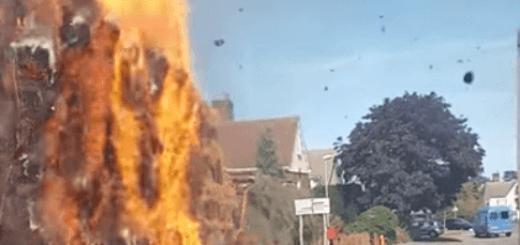 moving truck on fire