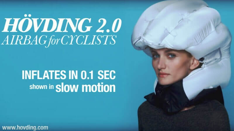 Hövding bicycle air bags 2 - Airbag safety for Cyclists; Can you believe this !
