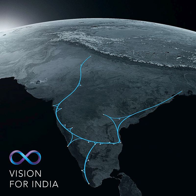 hyperloop india 1 - Hyperloop in India: Faster than flights by three times