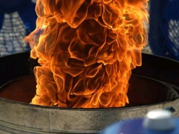 Watch this man made Fire Tornado!! It is so shocking 2