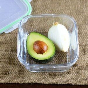 unused avocado with a chunk of onion