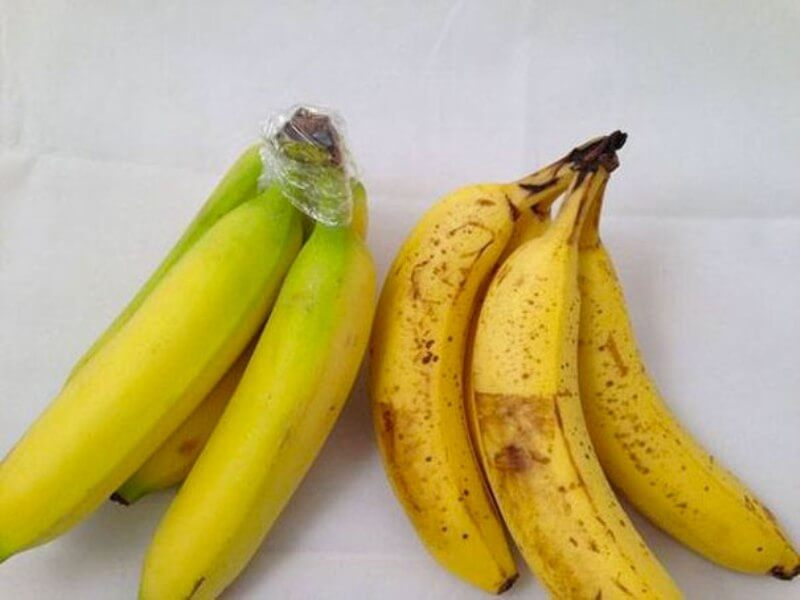 Bananas ripening too fast? Wrap the stems of the bananas with plastic wrap.