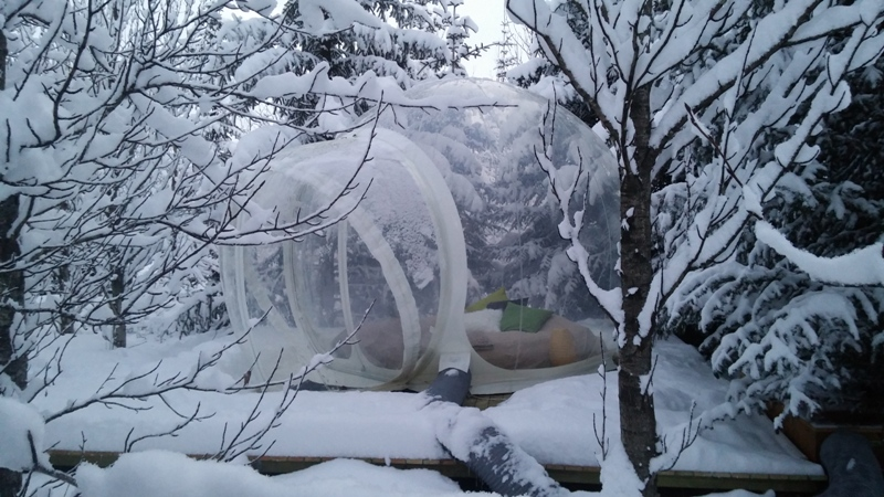 bubble domes Iceland
