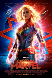 Captain Marvel poster - 10 Disney Movies releasing in 2019 and we all can't wait