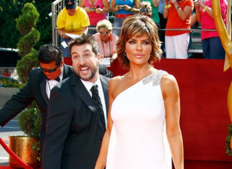 Former NSYNC member Joey Fatone with Lisa Rinna