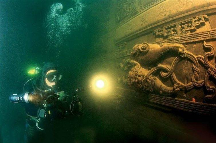 mysterious underwater discoveries lost city underwater china