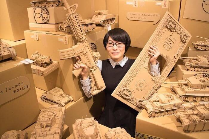 Monomi Ohno cardboard design 6 - Monomi Ohno creates unbelievable things with Amazon Boxes