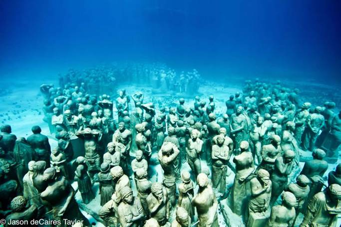 mysterious underwater discoveries Caribbean sculpture park