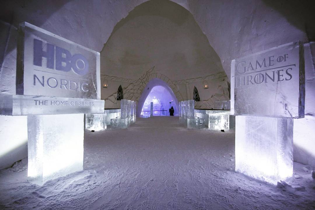 Snow Village finland lapland games of thrones
