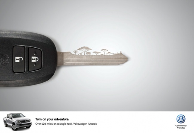 Ads describe product aptly key is turned on Volkswagen