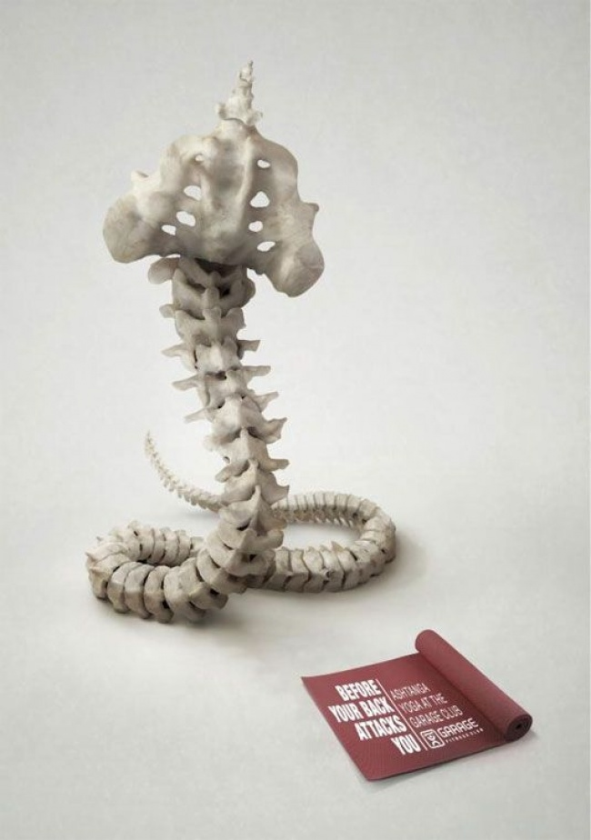 Ads describe product aptly yoga spine