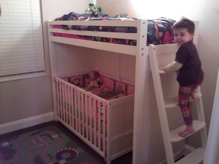 it can do the work of a small ladder to the bunk/loft bed