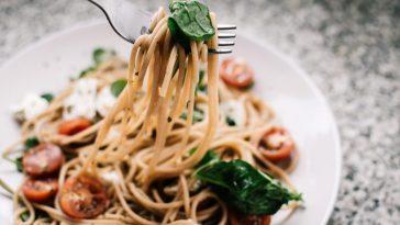basil leaves noodles