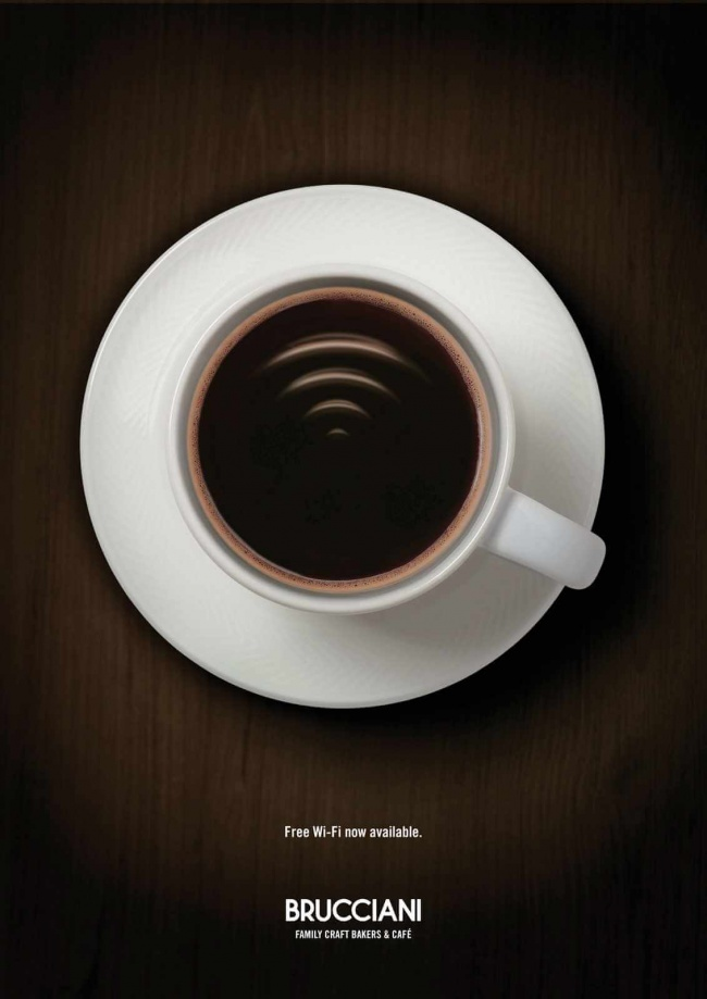 brucciani coffee - Ads that describe the product so aptly