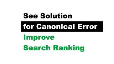 canonical error solution wordpress