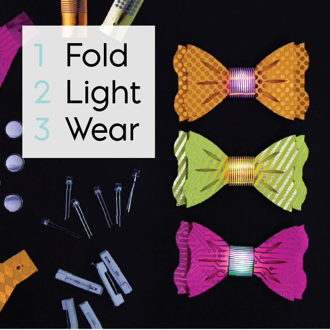 diy tech ties - How about attending a party with flashy bow-tie