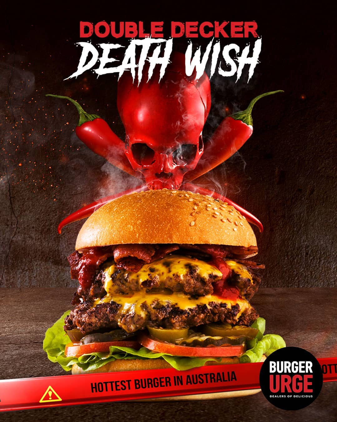 Double Decker Death Wish Burger from Australia