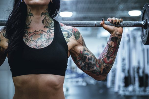 gym workout tattoo 608x406 - 3 Tips That Will Make You Fall In Love With Your Gym