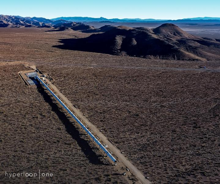 Hyperloop clears test pipes desert