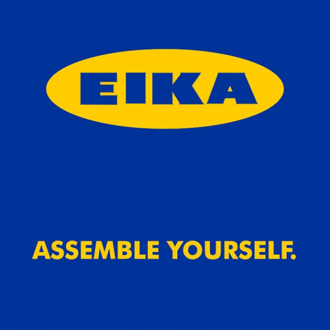 ikea furniture assemble yourself - Ads that describe the product so aptly
