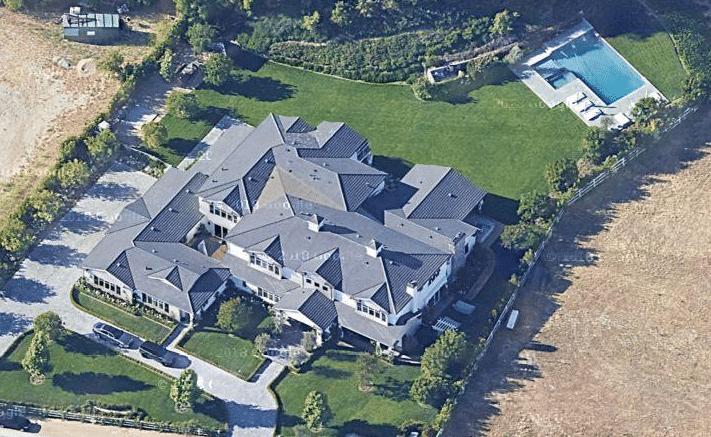 Kylie Jenner home ariel view