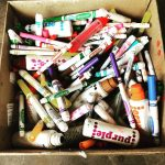 Crayola has a program called ColorCycle that keeps dead markers out of landfills.