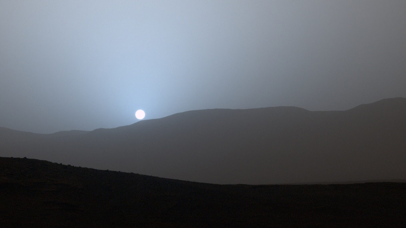 mars sunset blue - You need to know these interesting facts about planet Mars