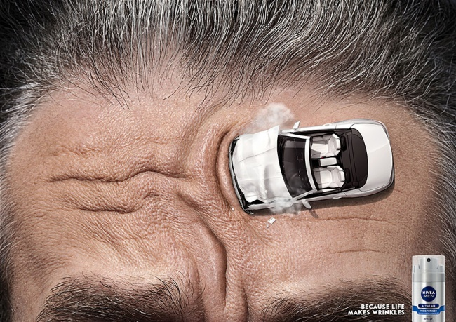 Ads describe product aptly nivea cream wrinkles