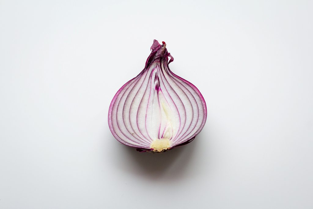 half cut onion