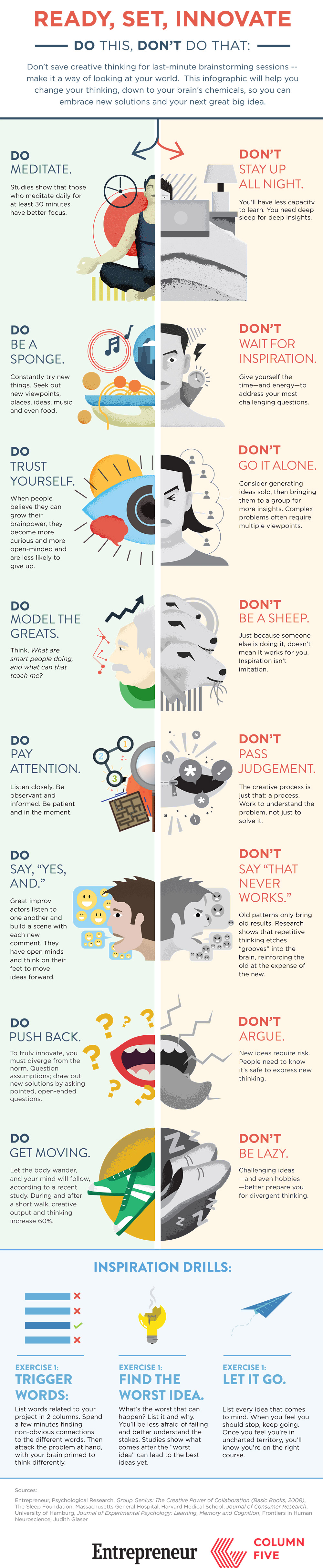 own creativity infographic - {Infographics} Boost Your Creativity