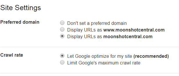 www vs non-www URL google search console choice www or non-www