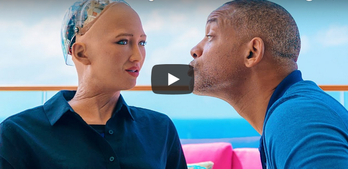 sophia will smith dating - AI Robot Sophia dated Actor Will Smith and when he tried to kiss her, this happened