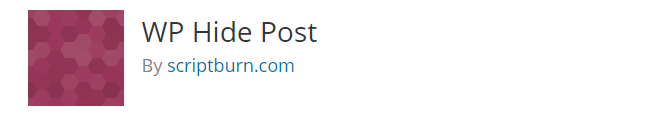 hide post WordPress WP Hide Post Plugin